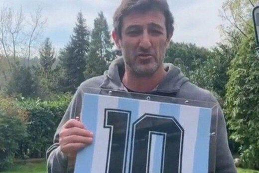 فروش پیراهن مارادونا برای مبارزه با کرونا