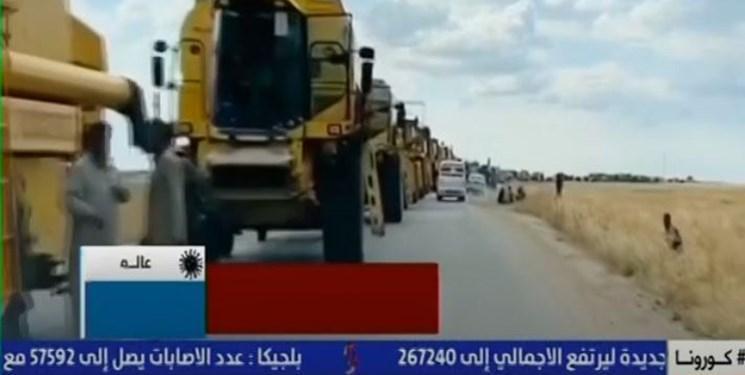 ترکیه برای سرقت محصولات کشاورزی سوریه ده ها کمباین وارد این کشور کرد